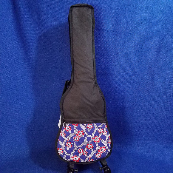 Ohana Tenor Ukulele Gig Bag Red & Blue Surf Hawaiian Print UB-27BL  Accessory