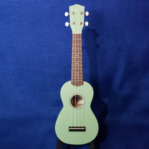 Ohana Soprano Starter Pack SK-10MG Mint Green Ukulele Bag, Tuner, Button, Strap, Chart