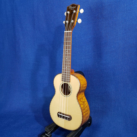 Ohana Soprano SK-70WG Blem Solid Spruce Top/ Laminate Willow Ukulele .163