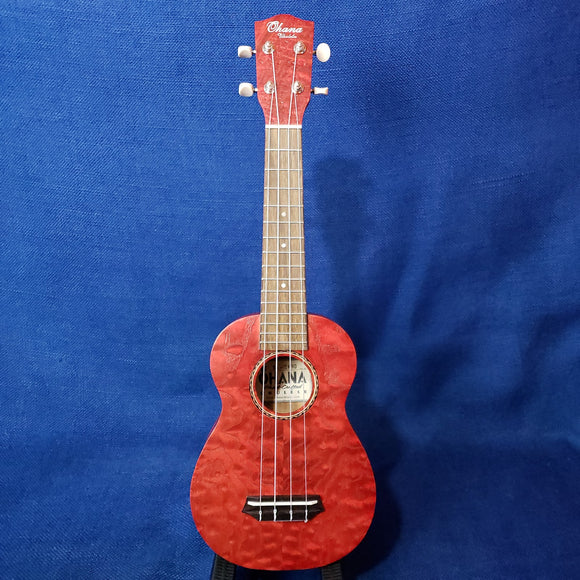 Ohana Soprano SK-15WRD Red Laminate Willow Ukulele m300