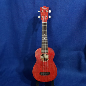 Ohana Soprano SK-15WRD Red Laminate Willow Ukulele .184