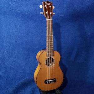 Ohana Soprano SK-50WG Solid Cedar Top / Laminate Willow B&S Ukulele m857