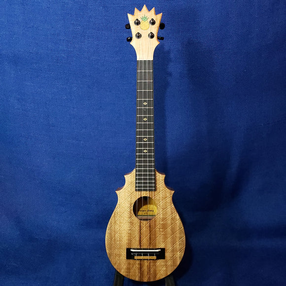 KoAloha UkeSA Tenor Neck Super Concert Pops' Pineapple Sunday PAUC-CL Solid Acacia Ukulele M556