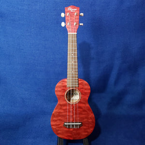 Ohana Soprano SK-15WRD Red Laminate Willow Ukulele m284