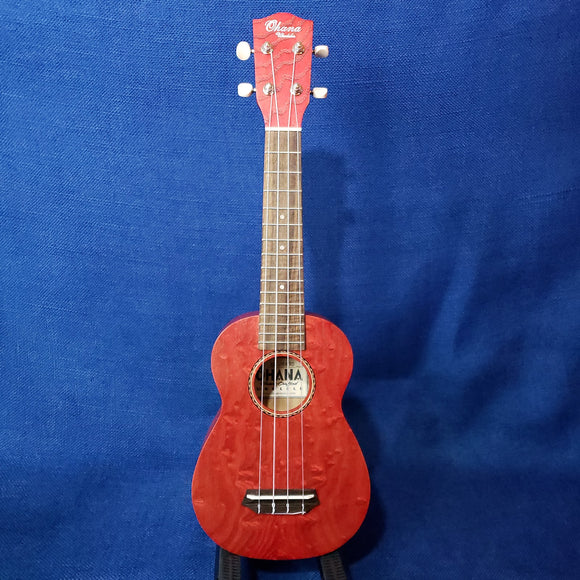 Ohana Soprano SK-15WRD Red Laminate Willow Ukulele m283