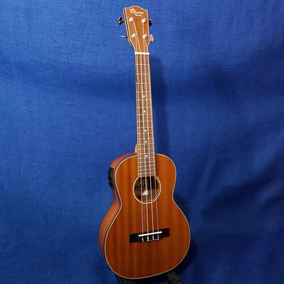 Ohana Tenor TK-14EQ Laminate Mahogany A/E with Binding Ukulele M622