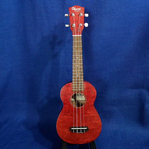 Ohana Soprano SK-15WRD Red Laminate Willow Ukulele .183