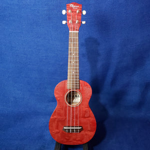 Ohana Soprano SK-15WRD Red Laminate Willow Ukulele m299