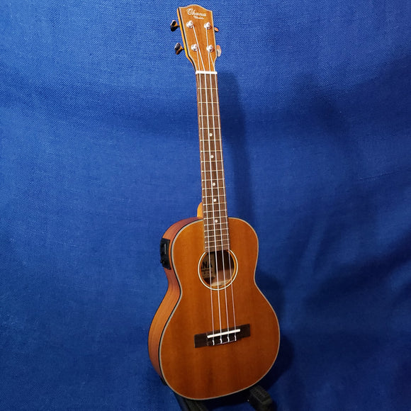 Ohana Tenor TK-14EQ Blem Laminate Mahogany A/E with Binding Ukulele M625
