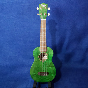 Ohana Soprano SK-15WGN Green Laminate Willow Ukulele M291