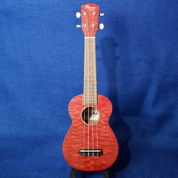 Ohana Soprano SK-15WRD Red Laminate Willow Ukulele m305