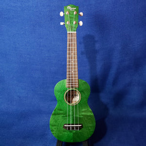 Ohana Soprano SK-15WGN Green Laminate Willow Ukulele M292