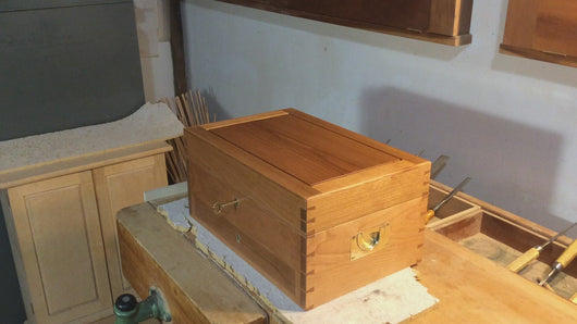 A quick video showing the interior of a Large Jewelry Box with Drawer.