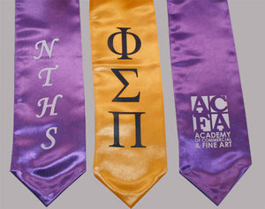 Custom Graduation Stole + Single Side Screen Print