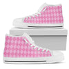 Pink Argyle Womens High Tops