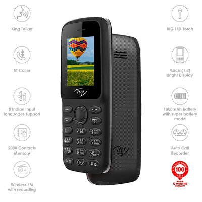 New Itel It2163 Keypad Mobile Phone Black Color Dual Sim. 1 Year warranty Pay Cash on Delivery - Yamdeal