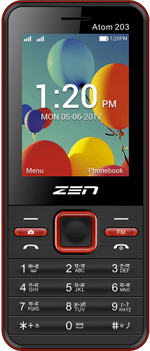 New Zen Mobile Atom 203 Dual SIM Mobile Phone Sealed Pack 1 Year warranty Pay Cash on Delivery - Yamdeal