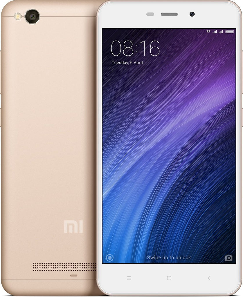 Redmi 4A Gold Color, 32 GB, 3 GB RAM) Refurbished mobile Phone 3 months Seller Warranty - Yamdeal