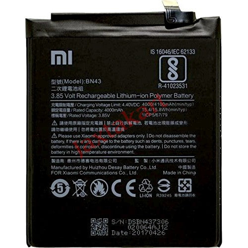 Xiaomi Redmi Note 4 Battery.Pay Cash on Delivery - Yamdeal