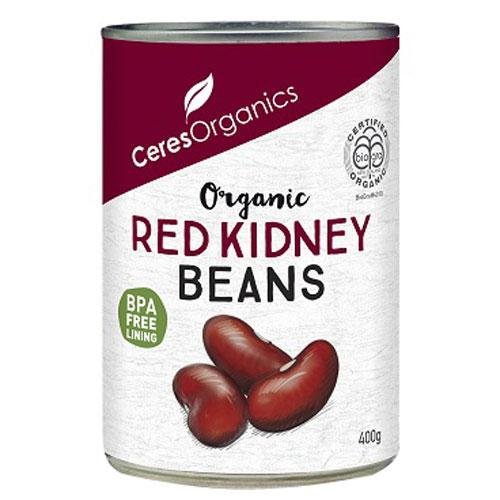 Organic Red Kidneys Beans Ceres 400G