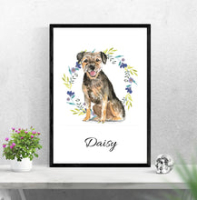 "Lade das Bild in den Galerie-Viewer, ""BORDER TERRIER"", DIN A4, DIN A3"