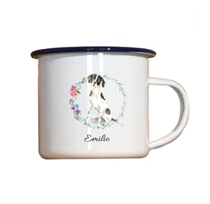 "Personalisierter Emaille-Becher ""ENGLISH POINTER"", Tasse, Geschenk"