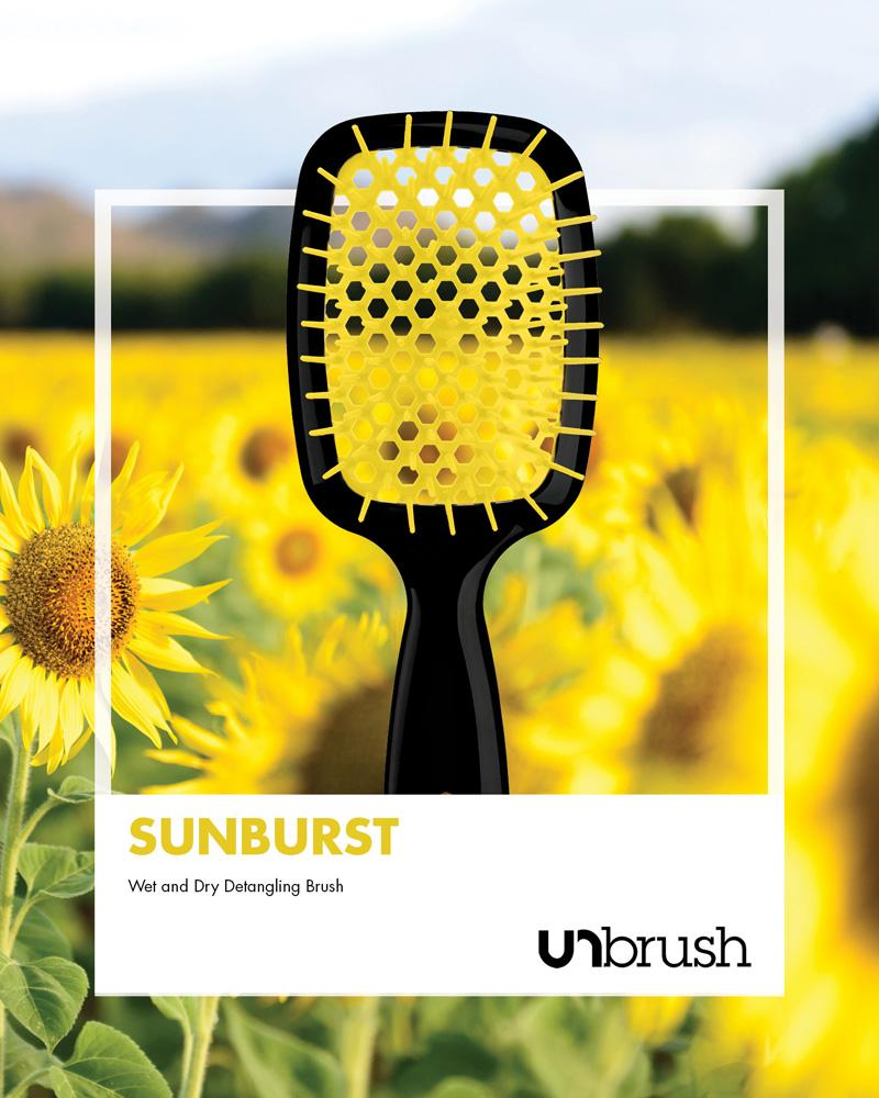 UNbrush Detangling Hair Brush - Sunburst