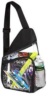 Clear Sling Bag Reinforced Adjustable Straps for Extra Durability Backpack, Daypack Easy Stadium Security Check Bag Traveling - Bags for less us