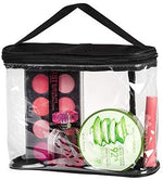 Clear Cosmetic Organizer Pouch for Carrying Makeup, Toiletry, Compact Size with Handle for Portable Use Women