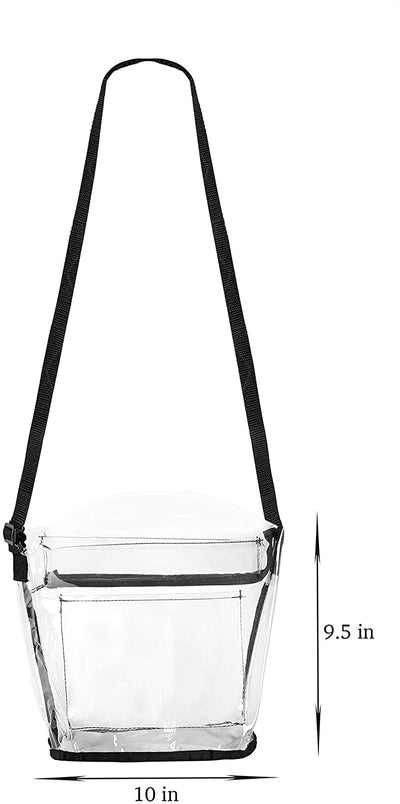Women Clear Transparent See Through Plastic Crossbody Purse Bag - Stadium Approved Adjustable Shoulder Handbag - Bags for less us