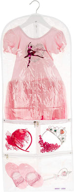 Small Clear Dance Costume Garment Bag for Kids with Durable Diagonal Zipper Transparent