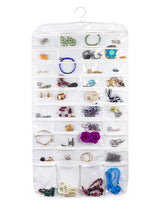 Bags for Less 80 Pocket Clear Hanging Jewelry Holder Storage Case Hanger Earrings Bracelets Pendants Accessories - Bags for less us