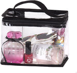 Clear Travel Train Bag for Lunch Case Carry On or Cosmetics Makeup Toiletries with Top Handle Large