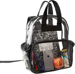 Clear Backpack Security Approved - Reinforced Straps & Front Accessory Pocket