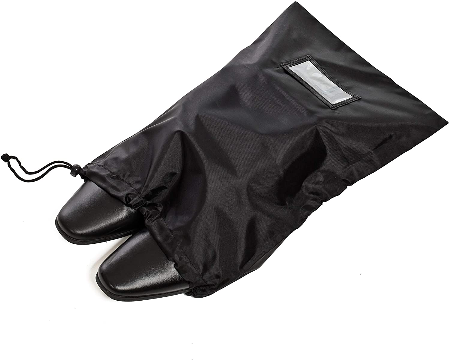 [25 Pack] Black Drawstring Bags for Storage, Shoes, Wardrobe, Pantry, Travel and Organization