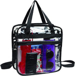 Clear Tote Bags for Work, Beach, Stadium, Security Approved With Zipper Closure