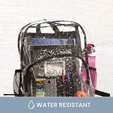 Clear Backpack Security Approved - Reinforced Straps & Front Accessory Pocket - Bags for less us