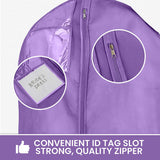 Wedding Dress Garment Bag 16 inch Gusseted, Durable, for Long Puffy Gowns, Clear Vinyl Pouch for Labeling
