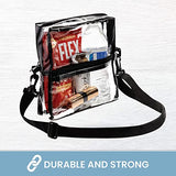 Bags for Less Clear Messenger Beg Stadium Approved Crossbody Purse Clear Lunch Box Adjustable Strap