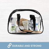 Clear Purse Stadium Approved Transparent Handbag Plastic Great for Work, Events, Makeup Sturdy Transparent Pocketbook