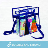 Clear Bag Stadium Approved Tote with Handles Double Zippers Adjustable Shoulder Straps Transparent for Men, Women and Kids - Bags for less us