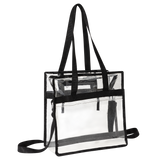 Clear Bag Stadium Approved Tote with Handles Double Zippers Adjustable Shoulder Straps Transparent for Men, Women and Kids