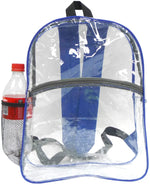 Bags for Less Clear Security Backpack (Black) - Bags for less us