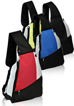 Three Tone Side Sling Backpack - Bags for less us