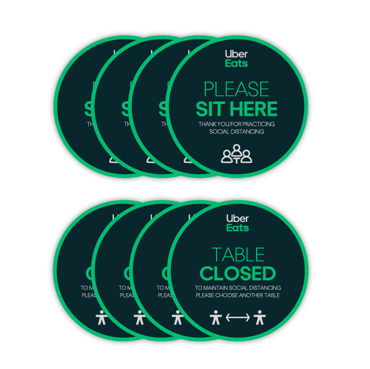 COVID-19 Table Decals (Pack of 20)