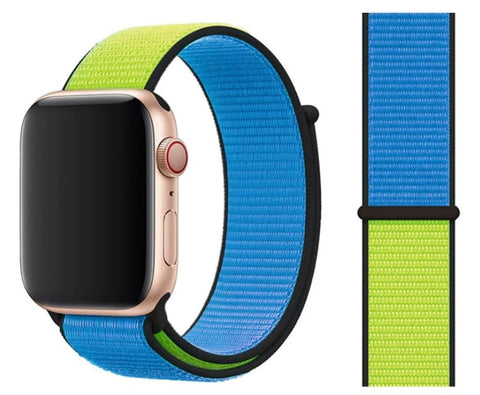 Nylon Sport Loop for Apple Watch – Blue Green