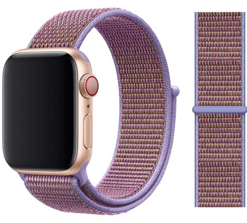 Nylon Sport Loop for Apple Watch – Lilac