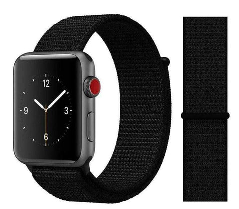 Nylon Sport Loop for Apple Watch – Black