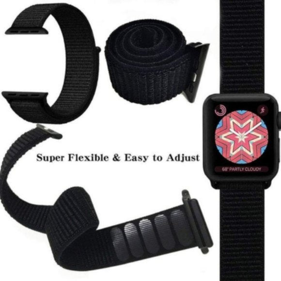 Nylon Sport Loop for Apple Watch – Pomegranate