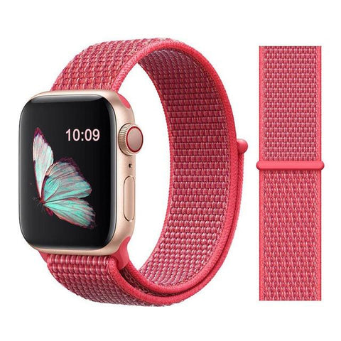 Nylon Sport Loop for Apple Watch – Hibiscus